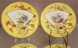 Pair Minton oriental style plates