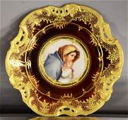 Royal Vienna portrait plate of mother and child