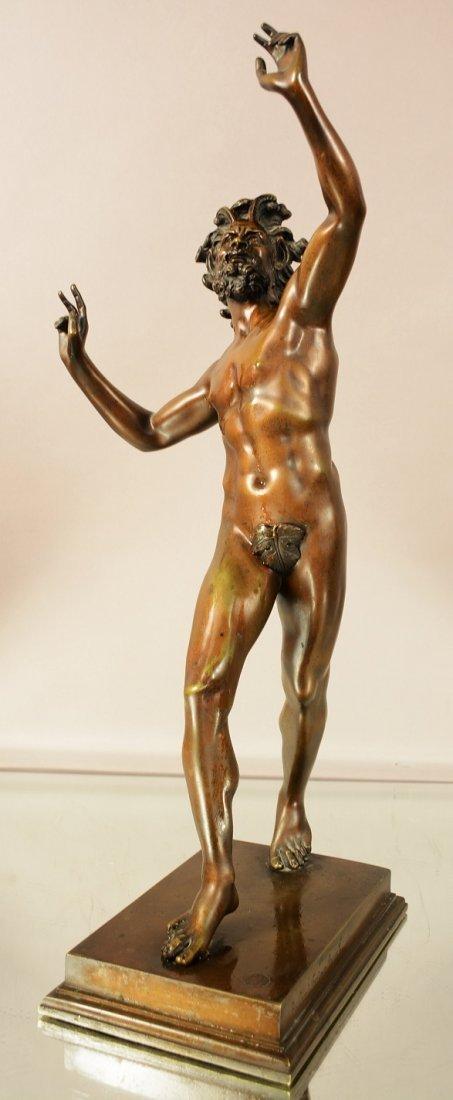 Rolland Fondeur French bronze statue of Zeus