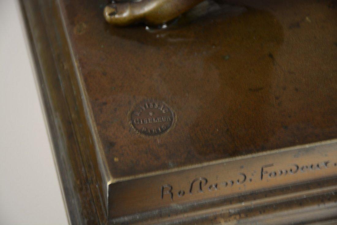 Rolland Fondeur French bronze statue of Zeus - 4