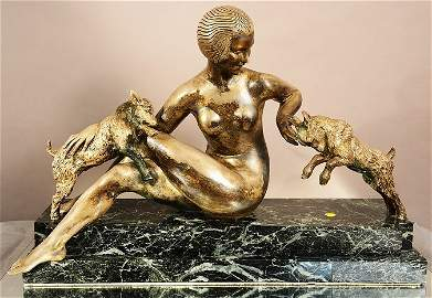 Guiraud Riviere French Art Deco style statue