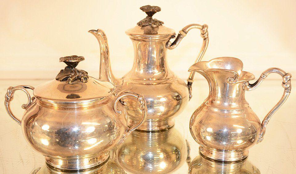 ChristoFle three piece silver tea set