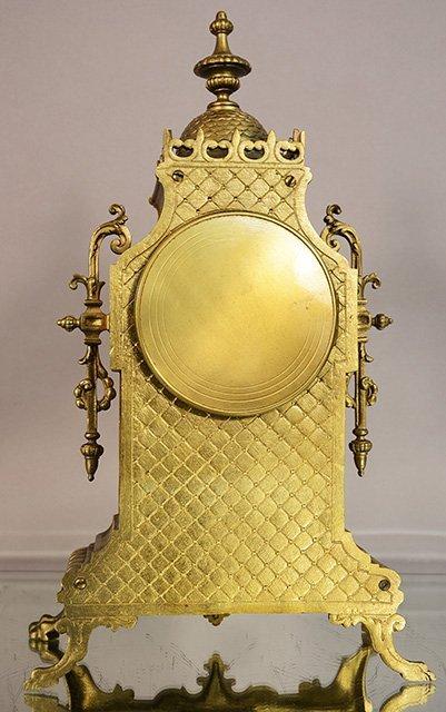 French Louis XIV bronze mantel clock - 2