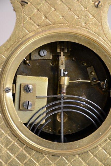 French Louis XIV bronze mantel clock - 3