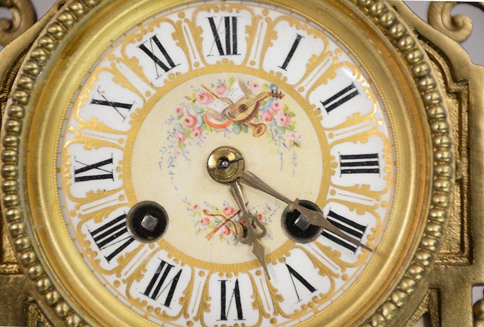 French Louis XIV bronze mantel clock - 5
