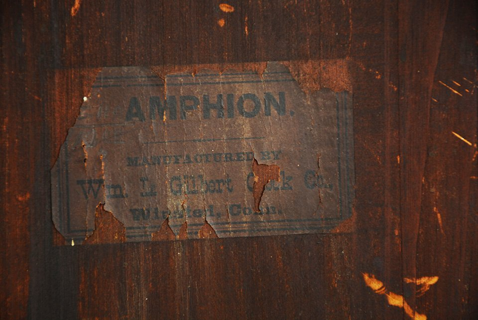 "Gilbert ""Amphion"" Model Mantel Clock - 4"