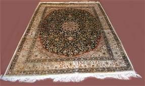 Persian Style Semi-Antique Silk Rug