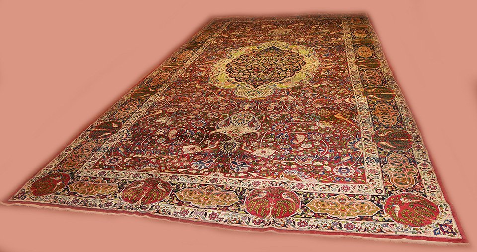 Antique Persian Kerman Lavar