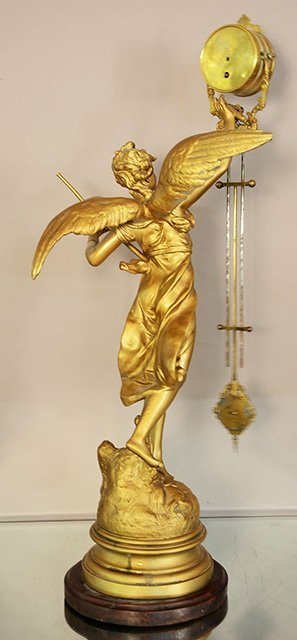 French Figural Mystery Swing Arm Clock - 2