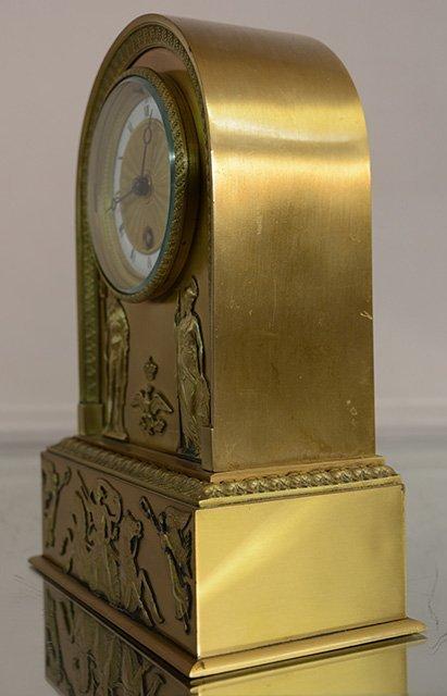 French Empire Style Bronze Mantel Clock - 2