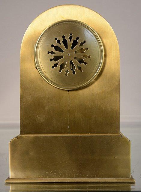 French Empire Style Bronze Mantel Clock - 3