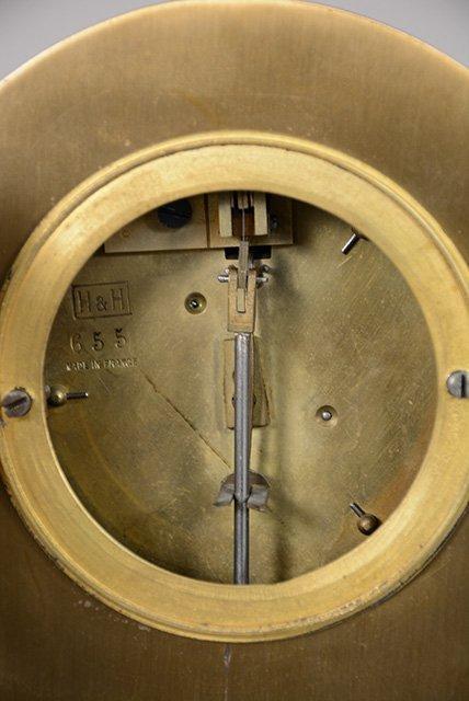 French Empire Style Bronze Mantel Clock - 4