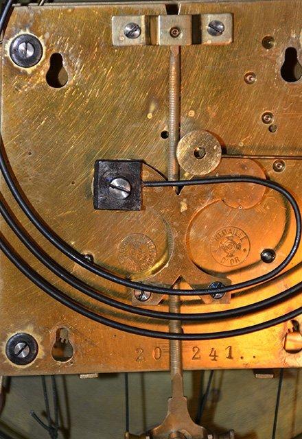 Gustav Becker German Two Weight Wall Clock fancy cherr - 2
