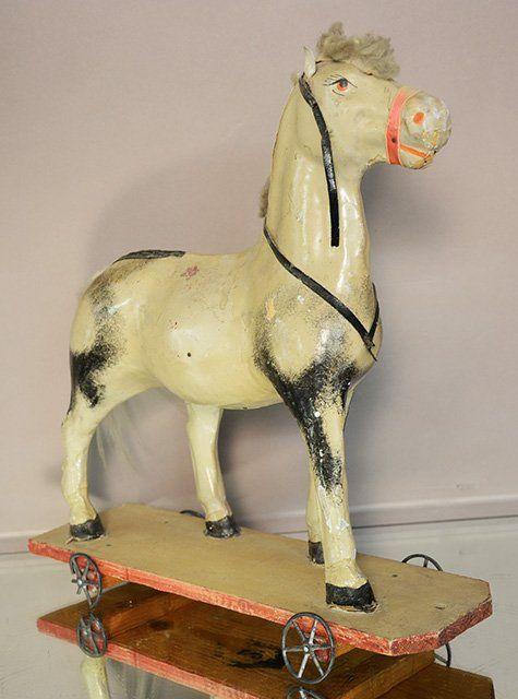 Antique Folk Art Pull Toy Horse