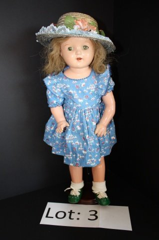 "3: Vintage 21"" Composition Doll Unmarked"