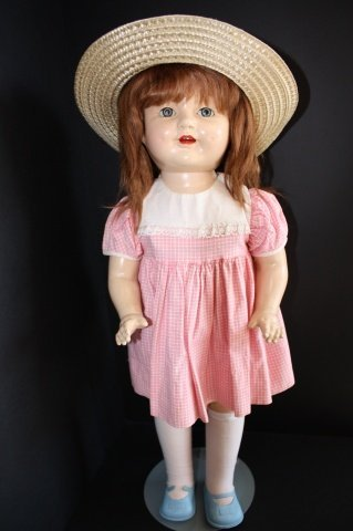 "4: 21""   ""Shirley-Type"" Composition Doll 1930's"
