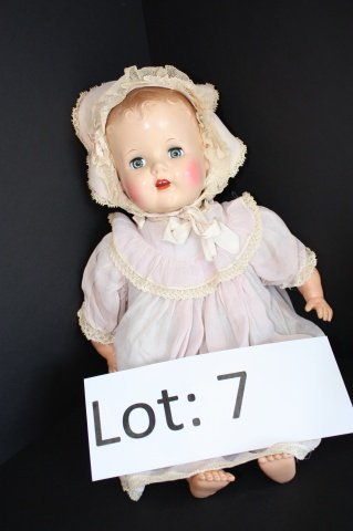 7: Celluloid early talking doll 21""