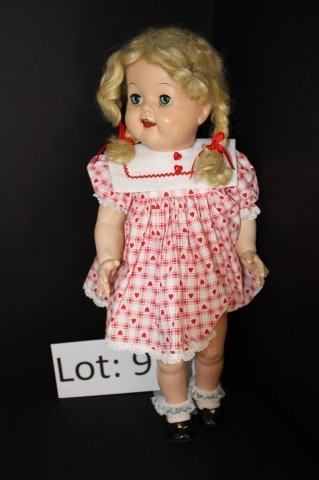 9: Celluloid early talking doll 22""