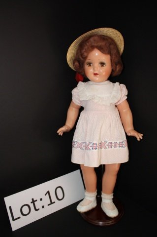 10: Vintage Composition Doll 20""