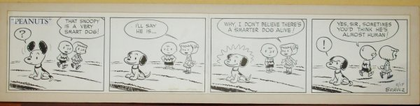 "279:  SCHULZ ""PEANUTS"" DAILY  ORIGINAL PATTY 1951"