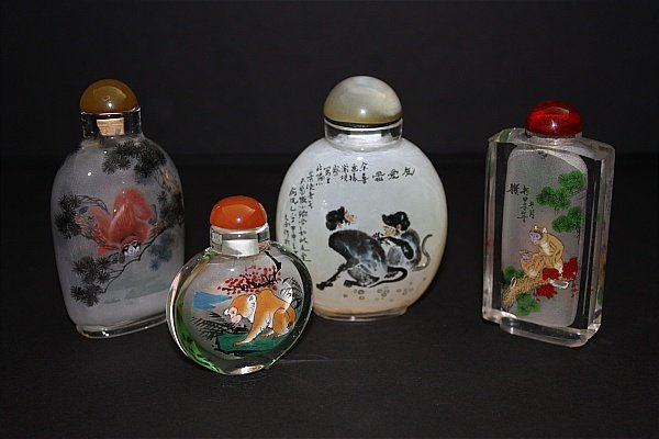 5: Antique Snuff Bottles with Reverse Painting