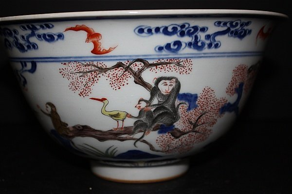 9: K'ang Hsi Large Bowl with Monkey Motiff