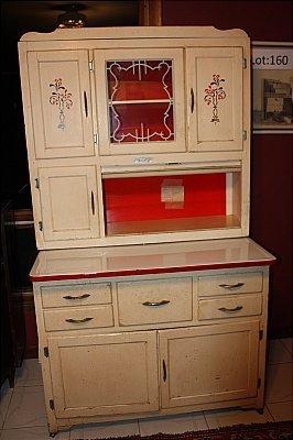 23: Marsh Hoosier Cabinet Original White Finish