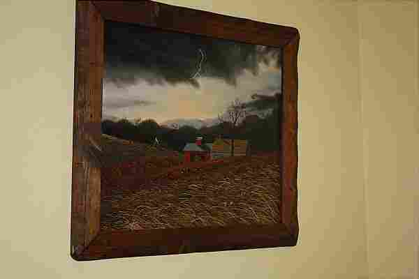 Thomas Kerry (1929- 1983) Barn in a Storm