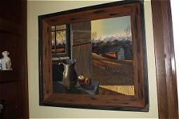 283: Thomas Kerry (1929-1983) Still Life with Barn