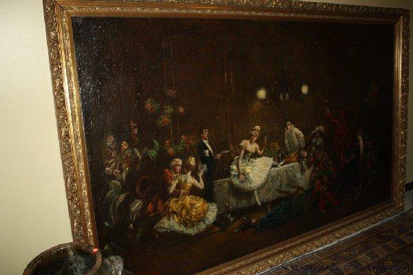"4: Theodore Levigne (1848 - 1912) ""Masked Ball"""