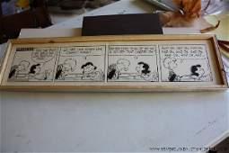 "6: Schulz, Charles ""Peanuts"" Daily Comic Strip Art"