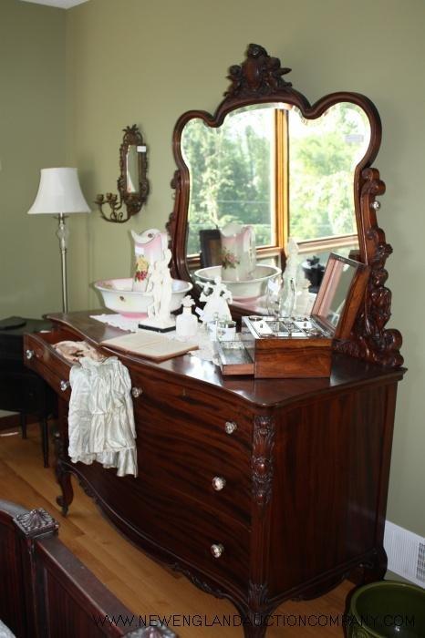 10: R.J. Horner Bow Front Dresser, 19th Century