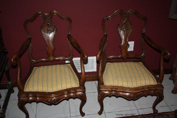 19: 19th C. Louis XVI Fireside Chairs