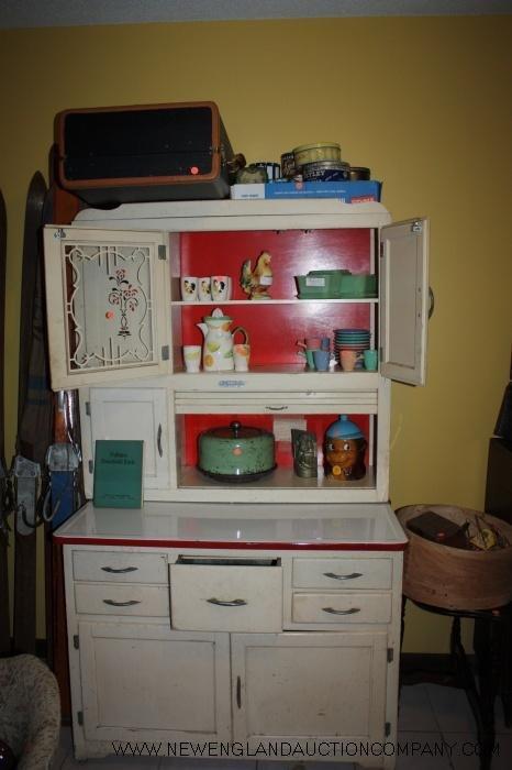 207: Marsh Hoosier Cabinet Original White Finish