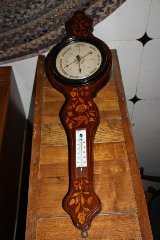 3: 19th C. Mercury Wheel Barometer Banjo