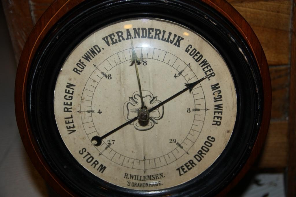 3: 19th C. Mercury Wheel Barometer Banjo - 2