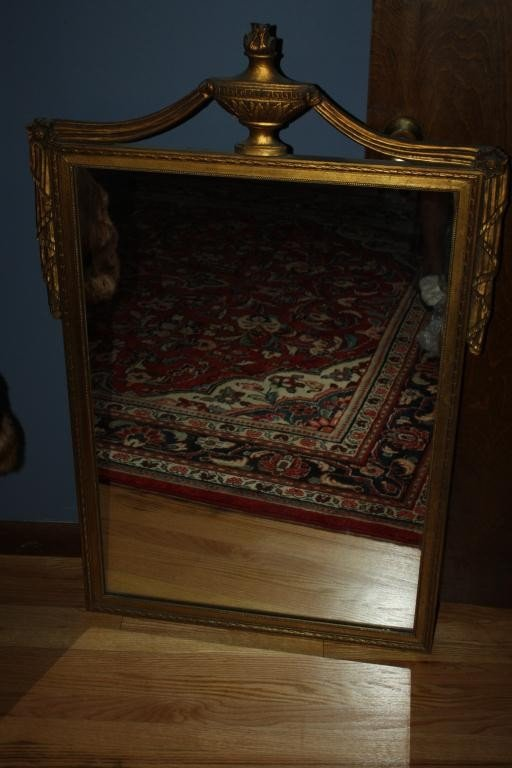 9: Wood Carved Federal Style Mirror