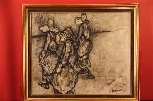 Claude Weisbuch (1927-)Oil on Canvas