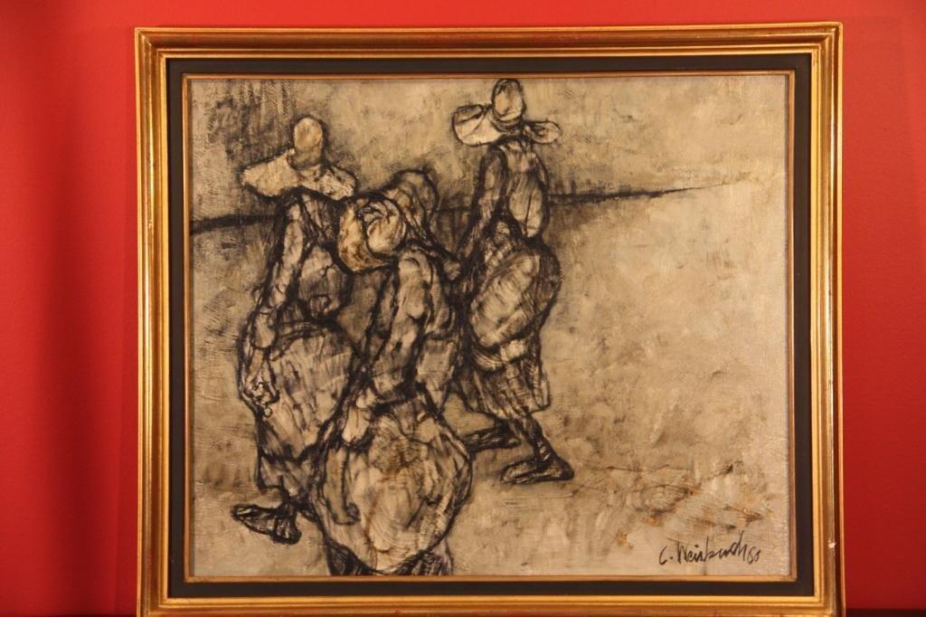 16: Claude Weisbuch (1927-)Oil on Canvas