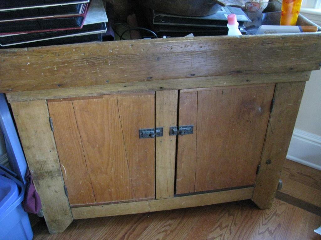 17: 19C Pine Dry Sink