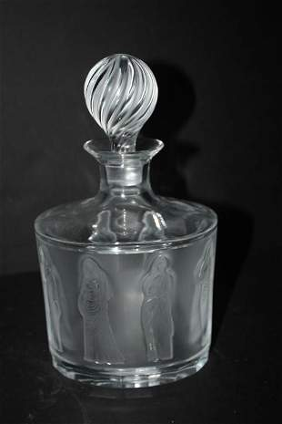 Lalique Femmes Antiques Frosted Maidens Decanter
