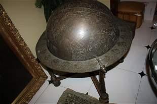 Persian Brass Celestial Sphere or Globe 19th c.