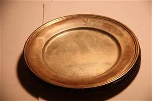 "Sterling Bon Bon Plates (4) S. Kirk 6""-12.87 OZT"