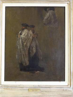 "Edouard Brandon (1831 - 1897) ""Three Rabbis"""