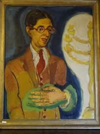 Mané-Katz (1894-1962) Cecil Roth Portrait
