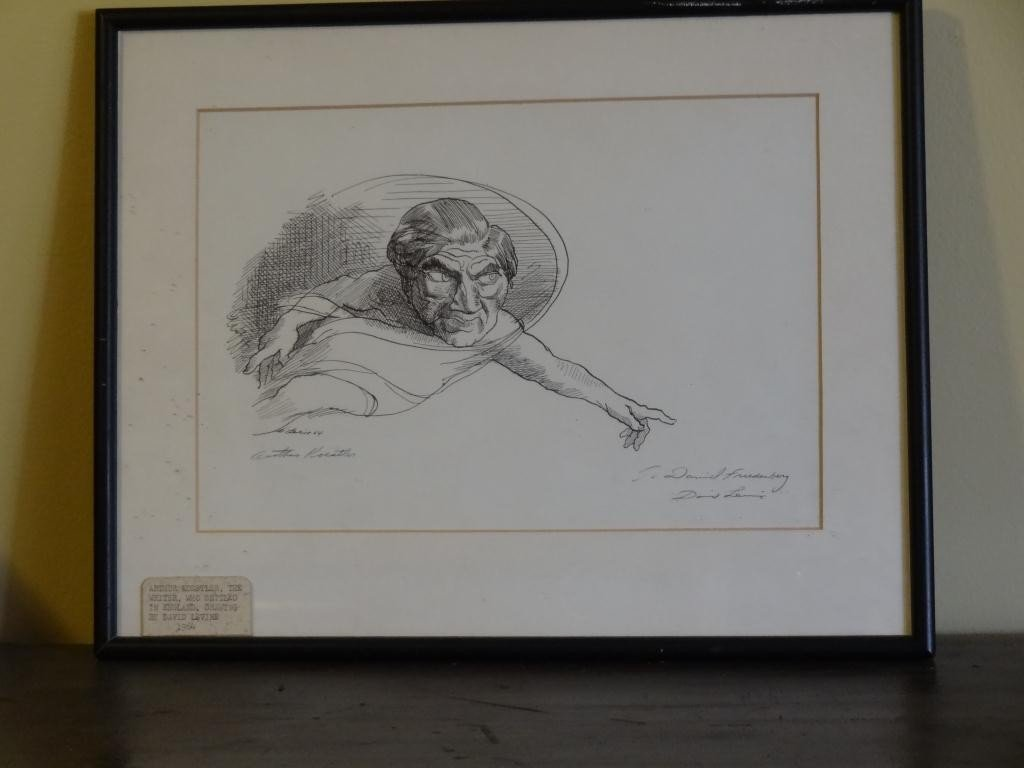 David Levine (1926-) Caricature of A. Koestler - 3