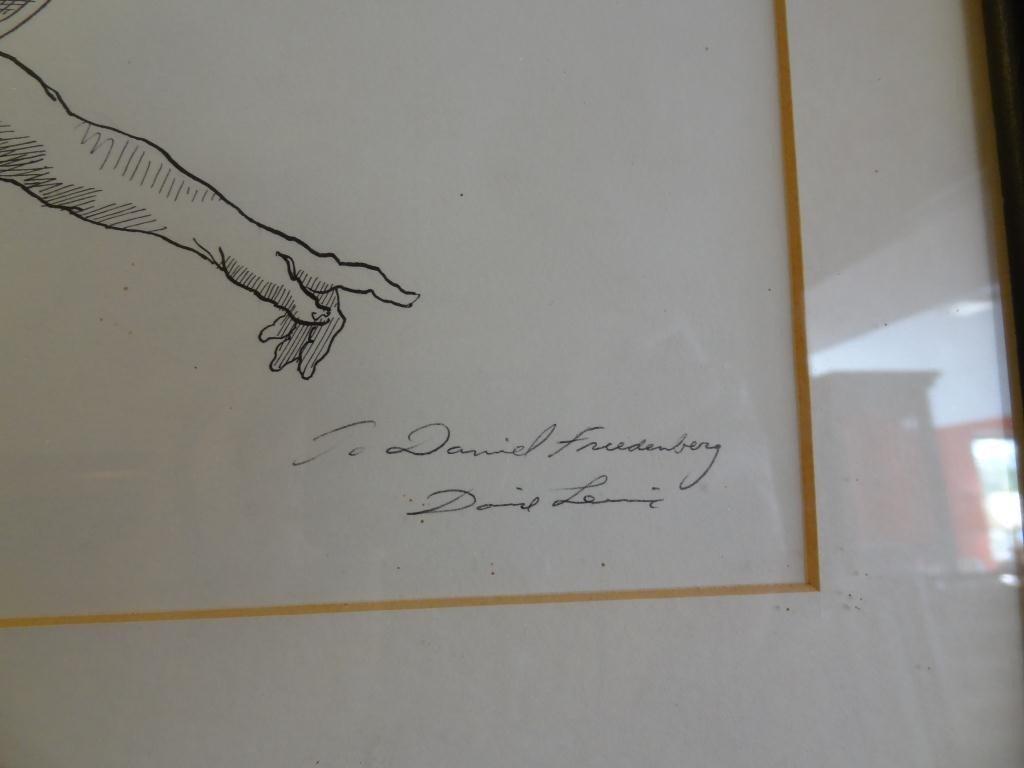 David Levine (1926-) Caricature of A. Koestler - 4