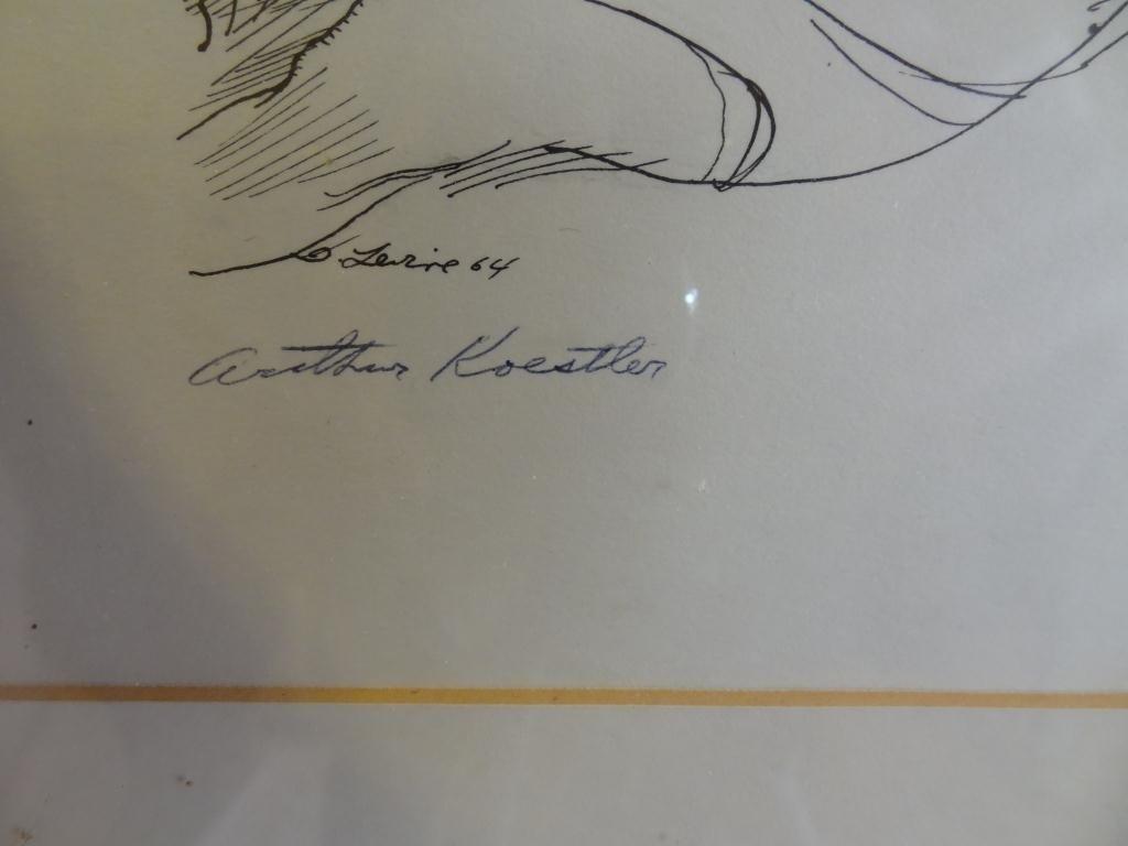 David Levine (1926-) Caricature of A. Koestler - 5