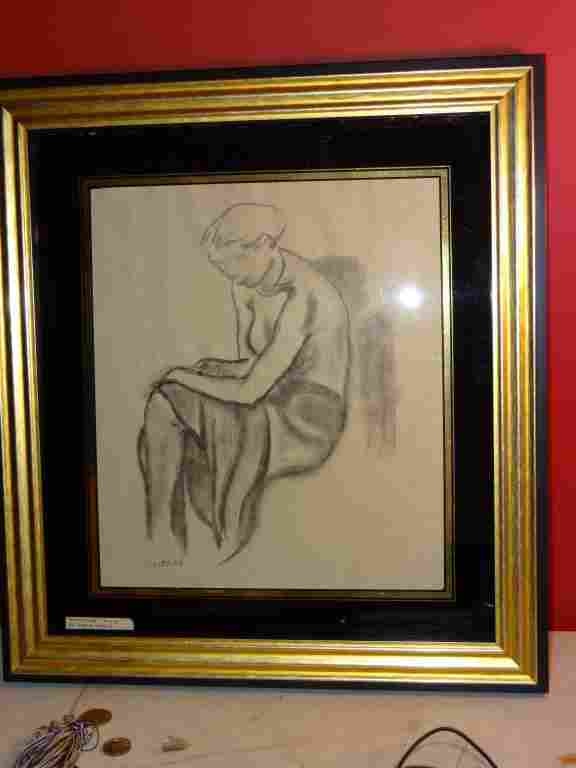 Leopold Gottlieb (1883 - 1934) drawing of a woman