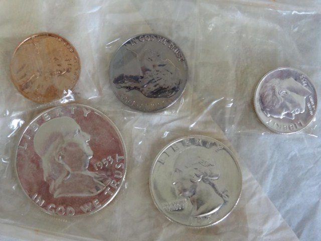 8: 1953 U.S. Coin Proof Sets (5 sets) see other lots!